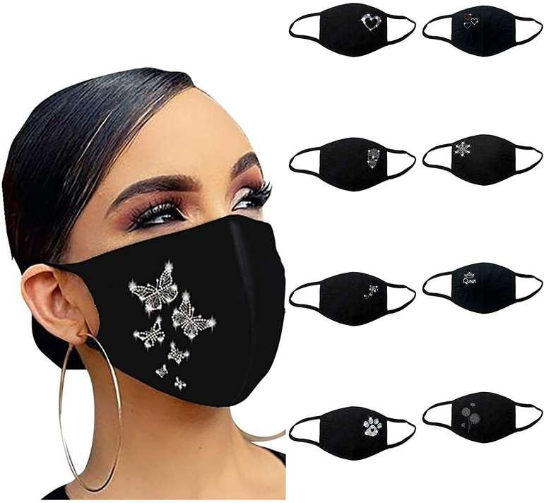 Vesniba Mund-Nase-Maske mit Strass für je 1,99€ inkl. Versand (statt 3€)