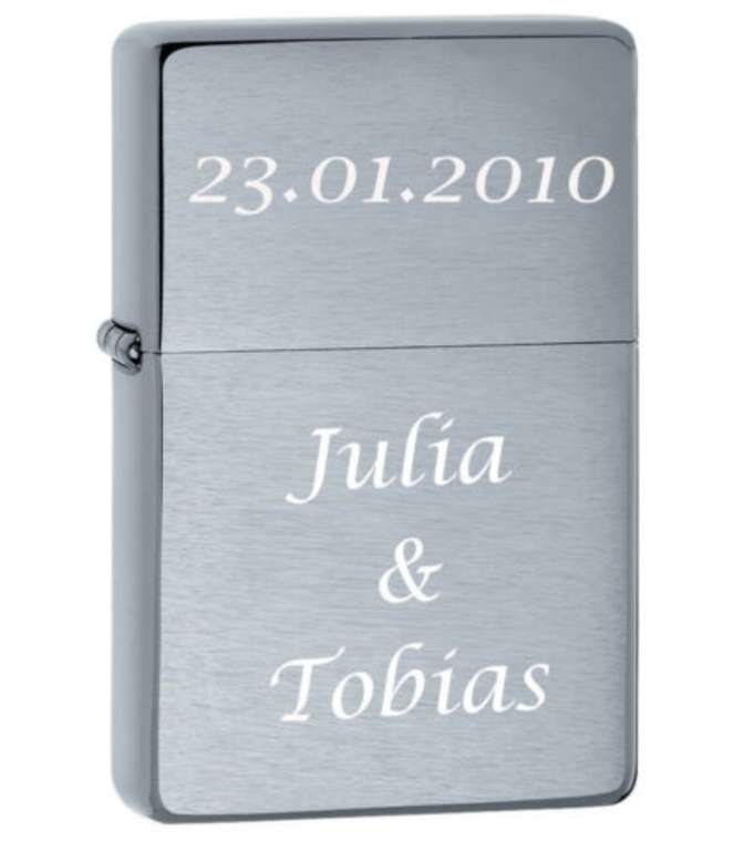 eBay: 10% Rabatt auf personalisierte Geschenke (Mutter- & Vatertag) - z.B. Zippo Feuerzeug mit Gravur für 22,41€