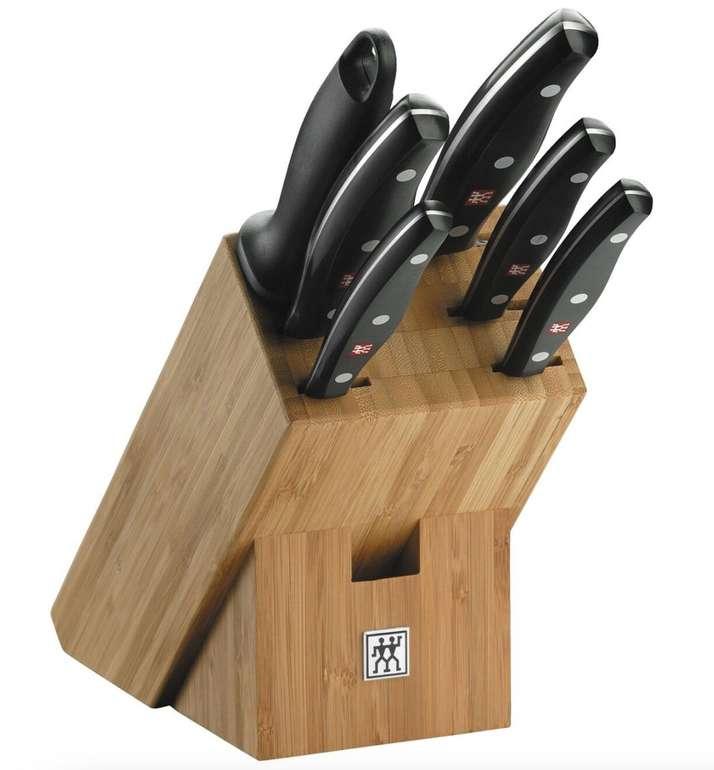 7-tlg. Zwilling Twin Pollux Bambus Messerblockset (6 Messer, rostfreier Spezialstahl) für 107,10€ - Newsletter!
