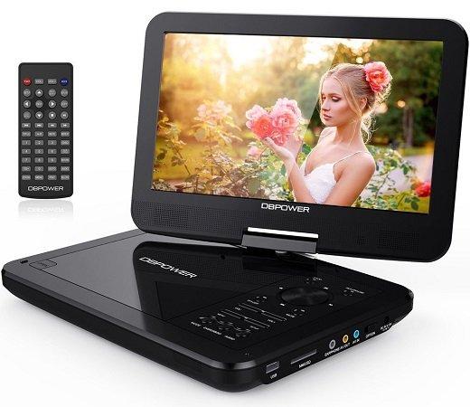 """DBPower – Tragbarer 10,5"""" DVD-Player mit SD-Karten & USB Unterstützung zu 29,99€"""