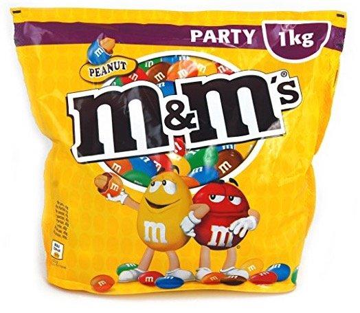 """1kg M&Ms Peanuts """"Party"""" für 9,98€ inkl. Versand mit Prime!"""