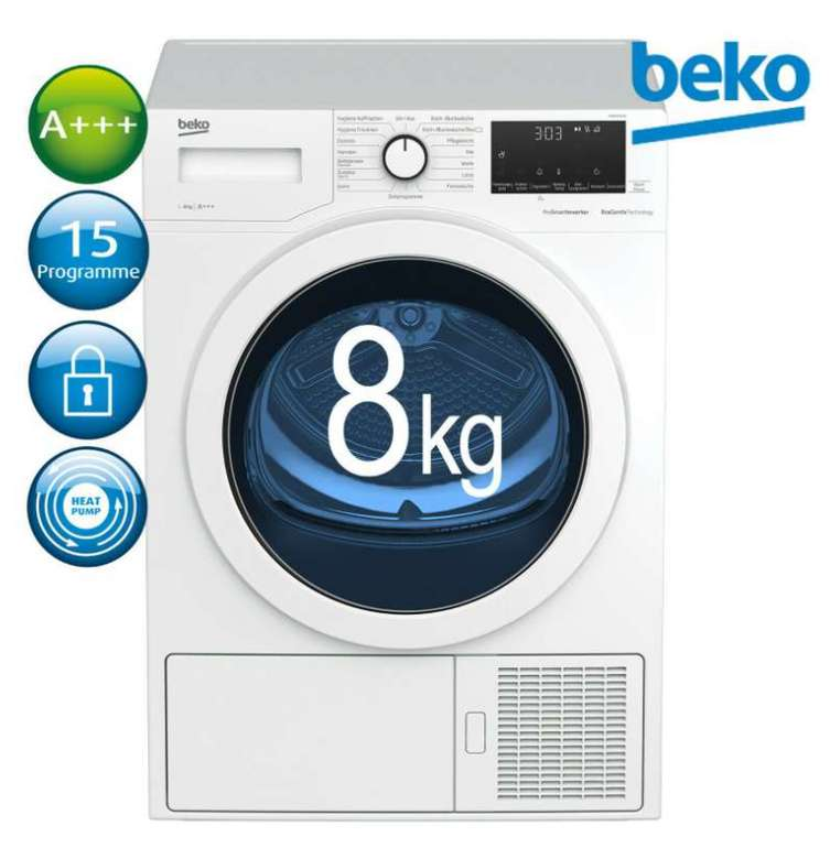 """eBay: 10% Rabatt auf ausgewählte Haushaltsgeräte - z.B.  Beko Wärmepumpentrockner """"DH85T6GXV"""" für 395,91€ inkl. Versand"""