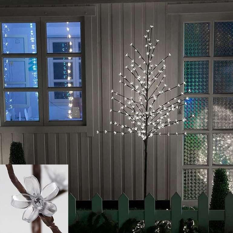 Hengda Kirschblütenbaum mit LED-Lichtern (für Innen- und Außenbeleuchtung geeignet) je 25,19€ (statt 32€)