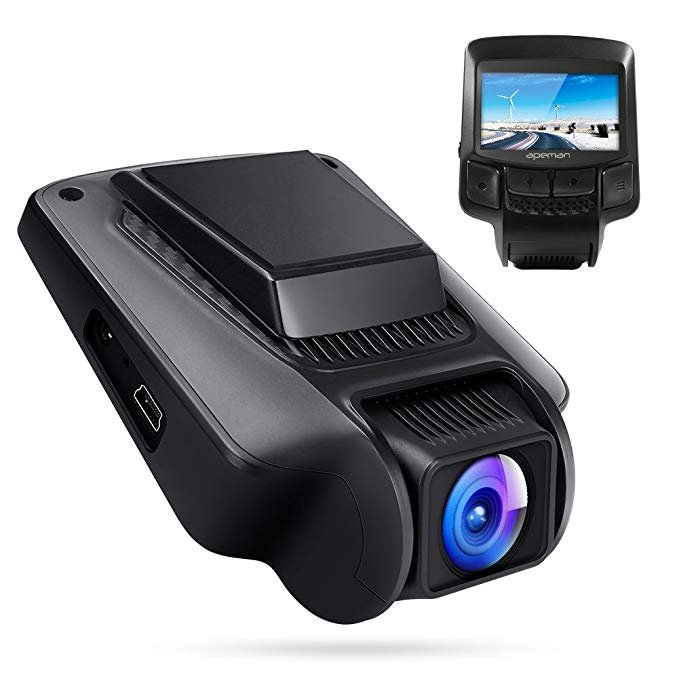 Apeman FHD Dashcam (WiFi, Weitwinkel, Nachtsicht + Bewegungserkennung) zu 37,99€
