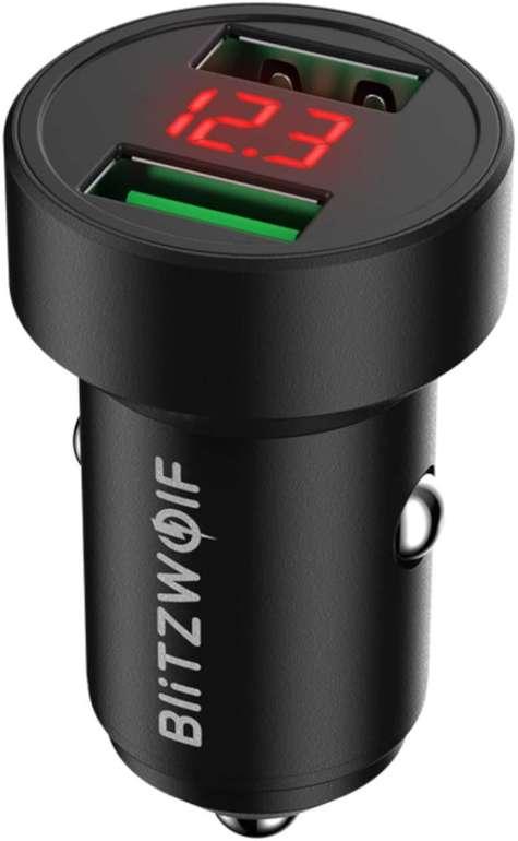 BlitzWolf 24W Auto Ladegerät mit 2 Ports für 7,69€ inkl. Prime Versand (statt 11€)
