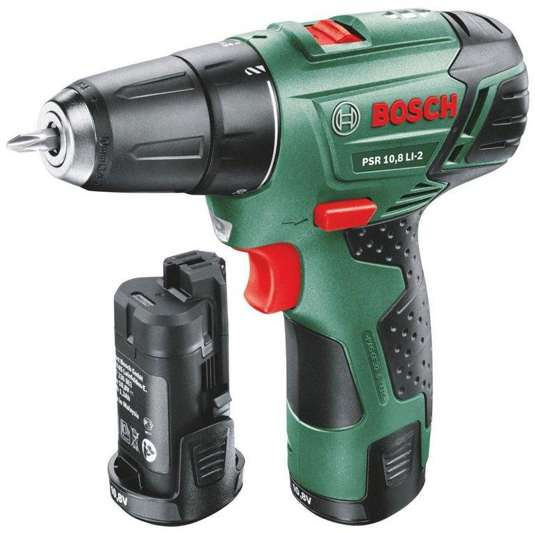 Bosch PSR 10,8 LI-2 Akkuschrauber + 1,5 Ah Akku für 79,99€ (statt 90€)