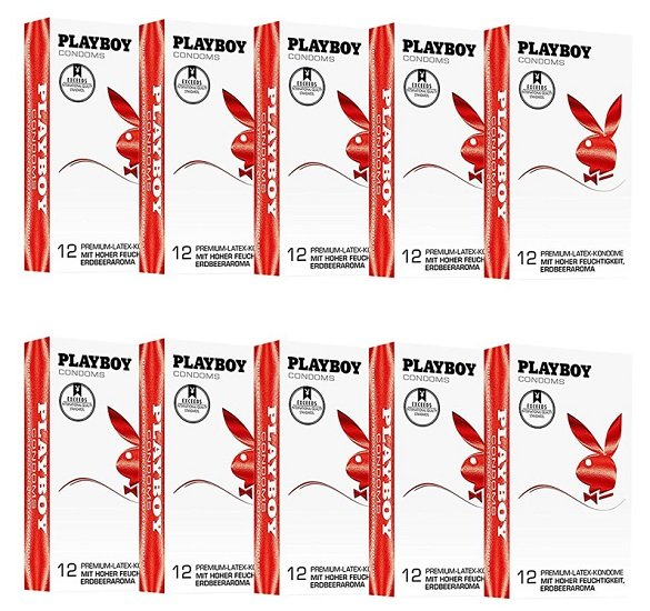 120er Pack Playboy Kondome mit Erdbeergeschmack für 18,99€ (0,16€ / Stück)