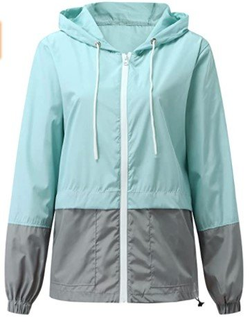 Uninevp wasserdichte Damen-Regenjacke mit Kapuze für 18,99€ inkl. Versand (statt 38€)