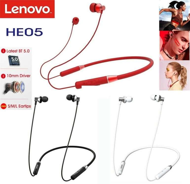 Lenovo HE05 Bluetooth In-Ear Kopfhörer für 11,69€ inkl. VSK (statt 20€)