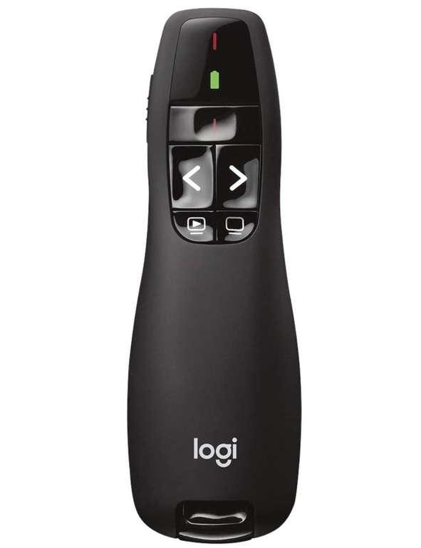 Logitech R400 Presenter (Kabellose 2.4 GHz Verbindung, 15m Reichweite, Roter Laserpointer) für 12,79€ inkl. Prime