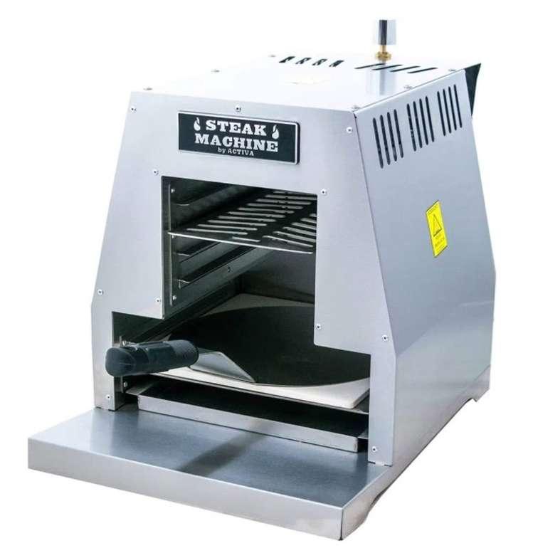 """Activa """"Steak Machine"""" Hochtemperaturgrill (Beefer, bis 800°, inkl. Pizzastein und Schieber) für 39,99€ (statt 90€)"""