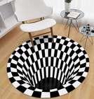 Ajcoflt 3D Space Teppich in schwarz-weiß für 8,99€ inkl. Versand (statt 15€)