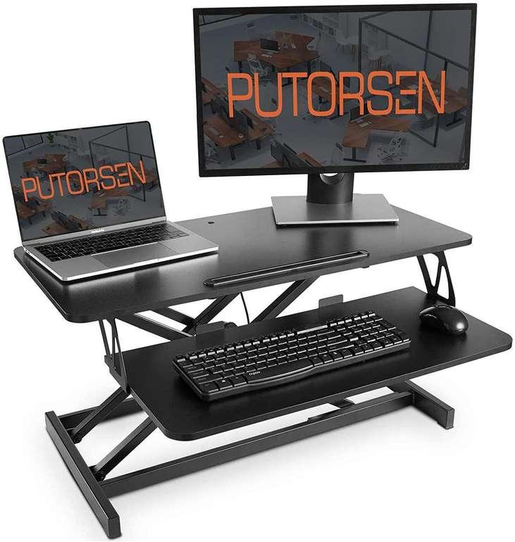 Putorsen höhenverstellbarer Sitz-Steh Schreibtischaufsatz für 59,93€ inkl. Versand (statt 120€)