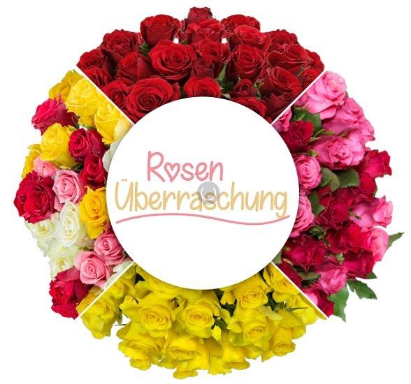 Blume Ideal Rosenüberraschung: Strauß mit 37bunten Rosen für 24,98€