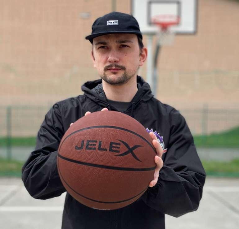 "Jelex Basketball Sale: z.B Basketball ""Sniper"" in braun"