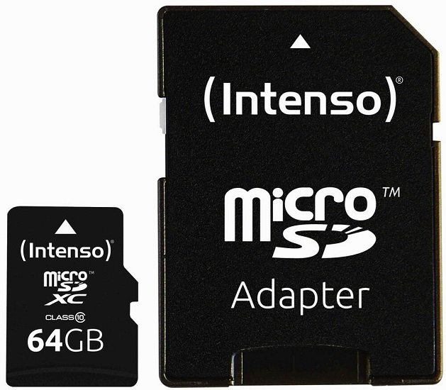 Intenso Micro SDXC Karte 64GB Speicherkarte