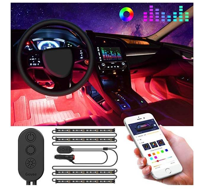 Govee Auto LED-Innenraumbeleuchtung mit App-Steuerung für 15,59€ inkl. Prime