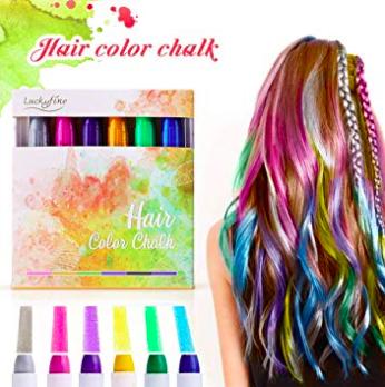 LuckyFine Haarkreide Geschenkset mit 6 Farben für 6,99€ inkl. Prime Versand