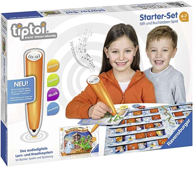 tiptoi Starter-Set Stift und Buchstaben-Spiel für 32,94€ inkl. Versand (statt 40€)