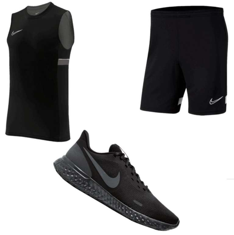 3-tlg. Nike Trainingsset Academy 21 (Tank Top, Short und Revolution V Sneaker) für 65,95€ inkl. Versand