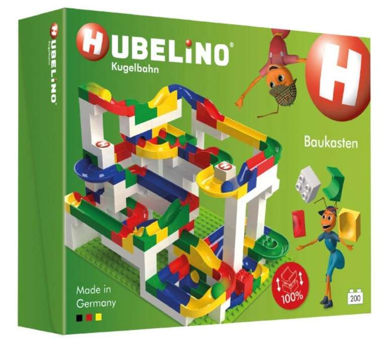 Hubelino Kugelbahn Baukasten (200 Teile) für 79,99€ inkl. Versand (statt 126€)