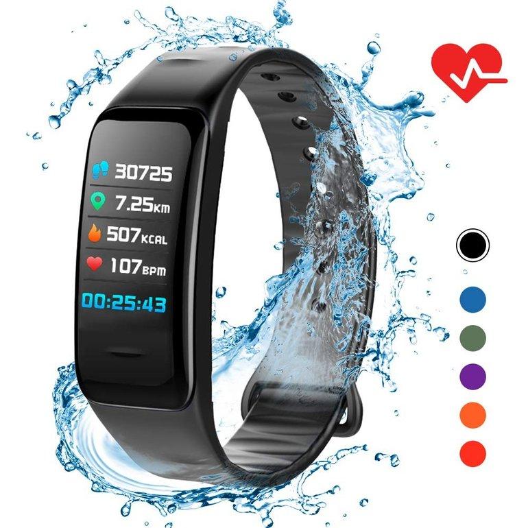 Lixada IP67 Fitness Tracker mit Herzfrequenzmessung & Schrittzähler für 17,49€ inkl. VSK