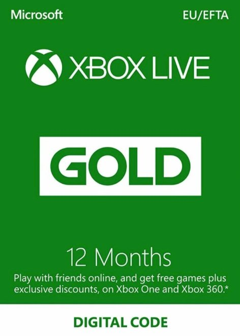 12 Monate Xbox Live Gold Mitgliedschaft für nur 40€ (statt 53€)
