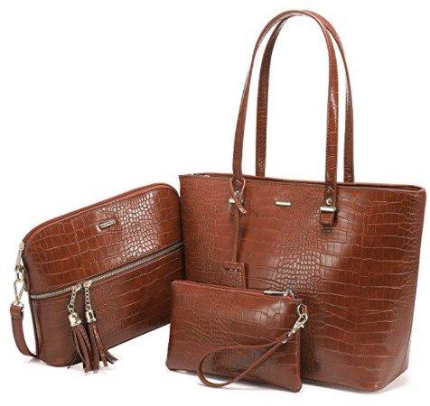 Lovevook 3-teiliges Taschenset - Handtasche/Schultertasche/Umhängetasche für 19,99€ inkl. Versand (statt 40€)