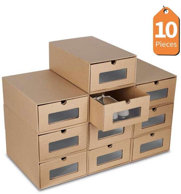 10er Pack Lentia Schuh-Aufbewahrungskartons (35 x 23.5 x 13.5cm) für 15,99€ inkl. Versand