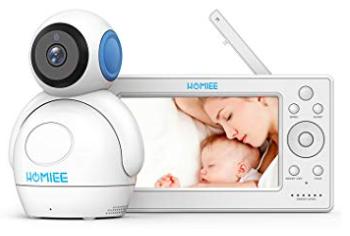 """Homiee Video Babyphone mit 5"""" LCD Monitor & 300m Wireless Verbindung für 112,49€"""