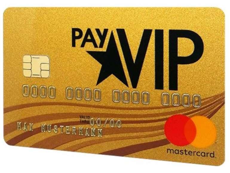 Kostenlose payVIP Mastercard Gold (gebührenfrei!) + 40€ Gutschein für Amazon
