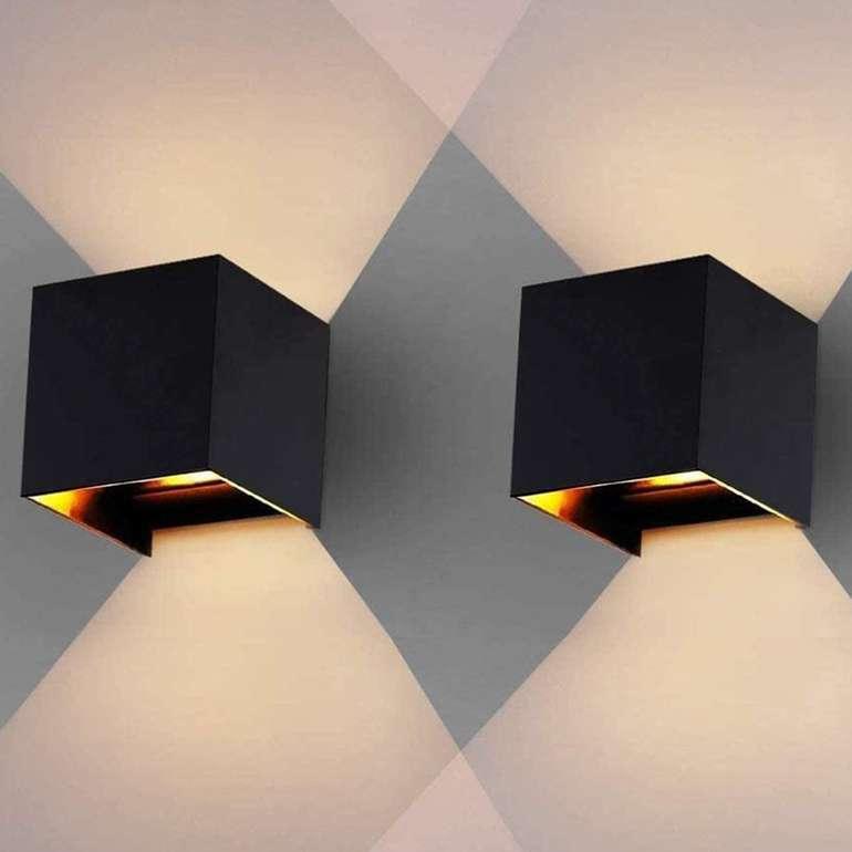 """Hengda LED Wandleuchten mit """"Up Down Effekt"""" reduziert, z.B. 2 x 12W schwarz für 23,79€"""