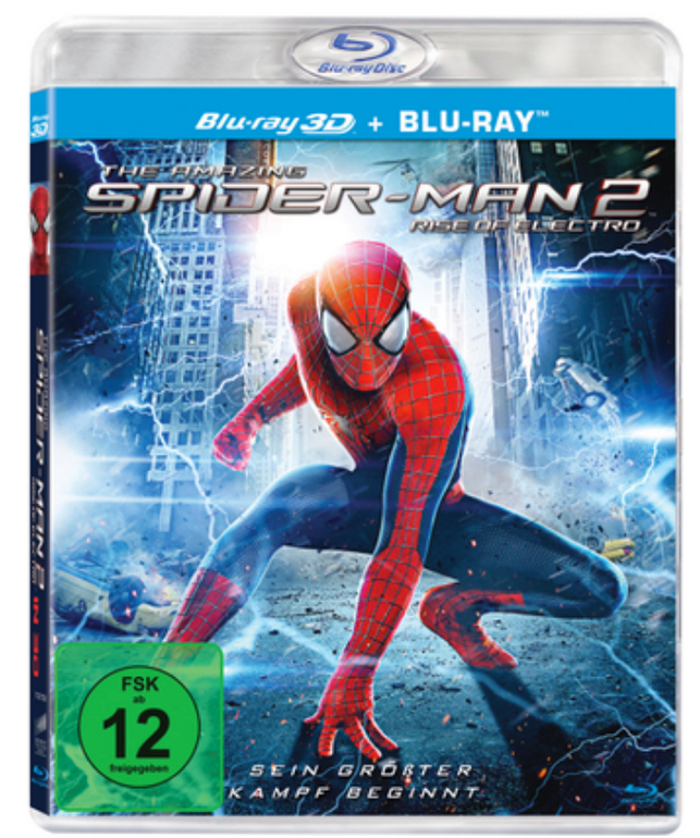 The Amazing Spider-Man 2: Rise of Electro 3D + 2D für 5,11€ inkl. Versand