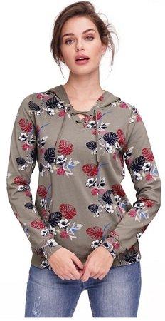 Gina Damen Sweatshirt mit Kapuze für 11,94€ inkl. VSK