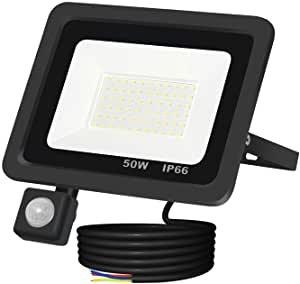 XZN LED Strahler mit Bewegungsmelder (50 Watt, IP66, Wasserdicht, 6500K) für 13,99€ inkl. Prime Versand (statt 24€)