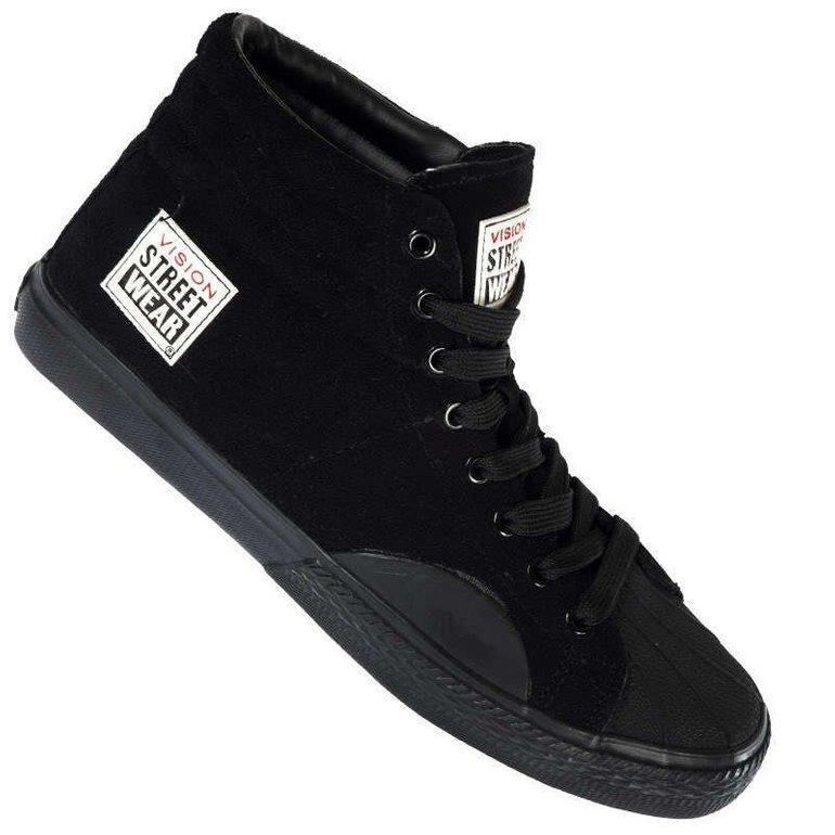 Vision Street Wear Suede Hi Sneaker in Schwarz für 18,99€ inkl. Versand