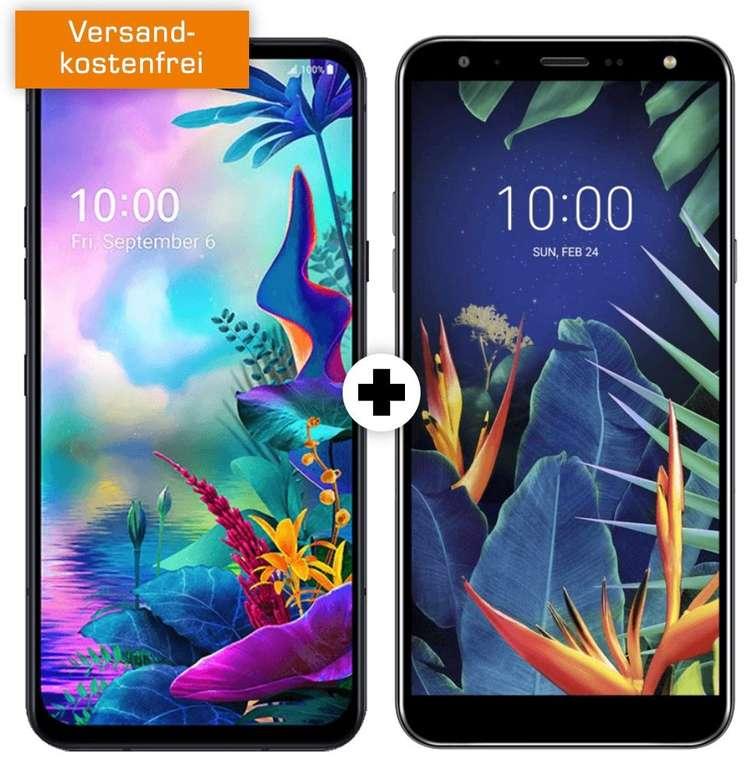 LG G8X ThinQ Dual SIM & LG K40 (79€) + O2 All-In M (All-Net- und SMS-Flat, 6GB LTE) für 24,99€ mtl.