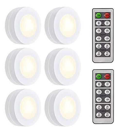 6x Salking LED Schrankleuchten mit Fernbedienung für 11,99€ inkl. Prime Versand