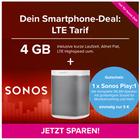 Sonos Play:1 + o2 Tarif (6 Mon. Laufzeit, 4GB LTE, Allnet-, SMS-Flat) 14,99€ mtl