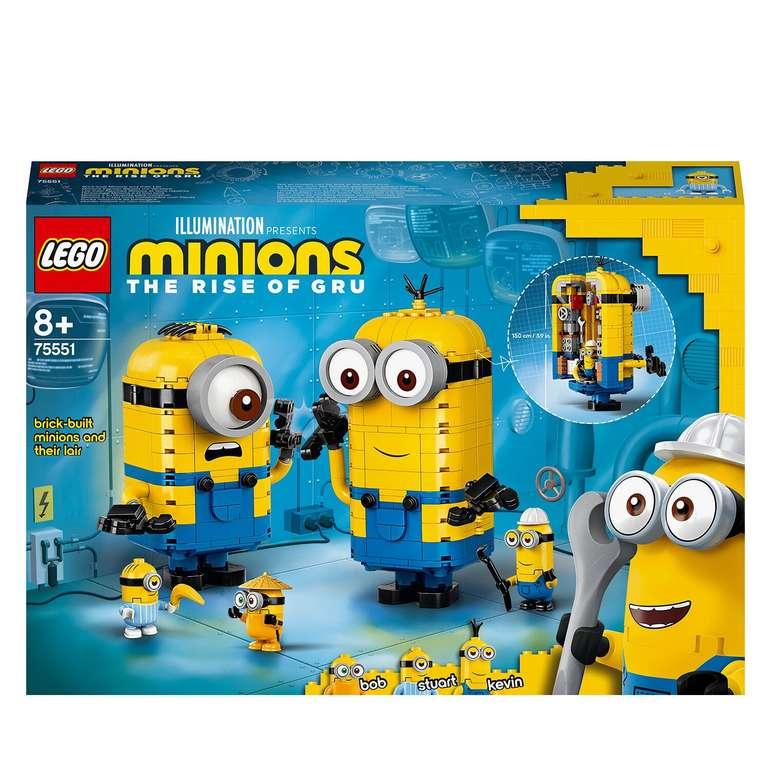 Lego Minions - Figuren Bauset mit Versteck (75551) für 31,79€ inkl. Versand (statt 39€)