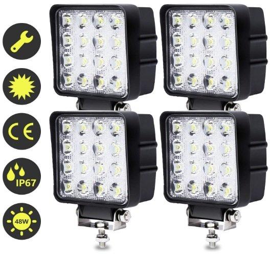 Hengda 4x 48W LED Arbeitsscheinwerfer / Rückfahrscheinwerfer für 23,79€ inkl. Prime Versand (statt 34€)