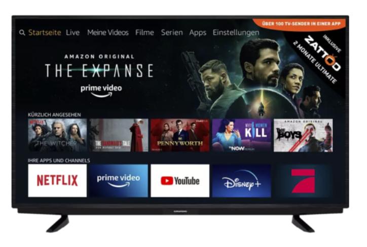Grundig 50 GUB 7022 mit 50 Zoll (Fire TV, LED TV, 4K, Smart TV) für 297€inkl. Versand (statt 359€)