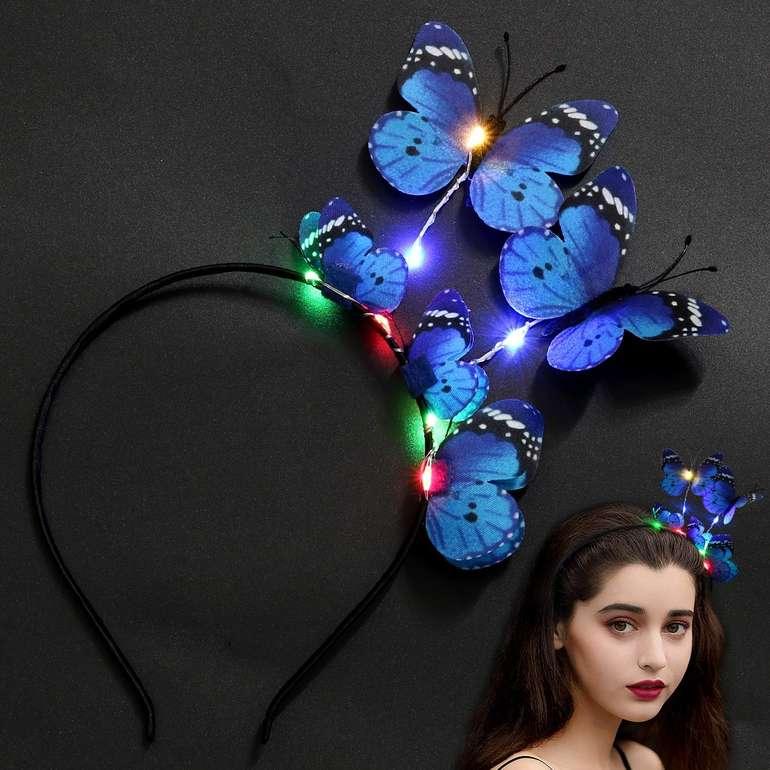 Outgeek Haarreifen mit Schmetterlingen & LED Beleuchtung für 4€ inkl. Prime Versand (statt 9€)