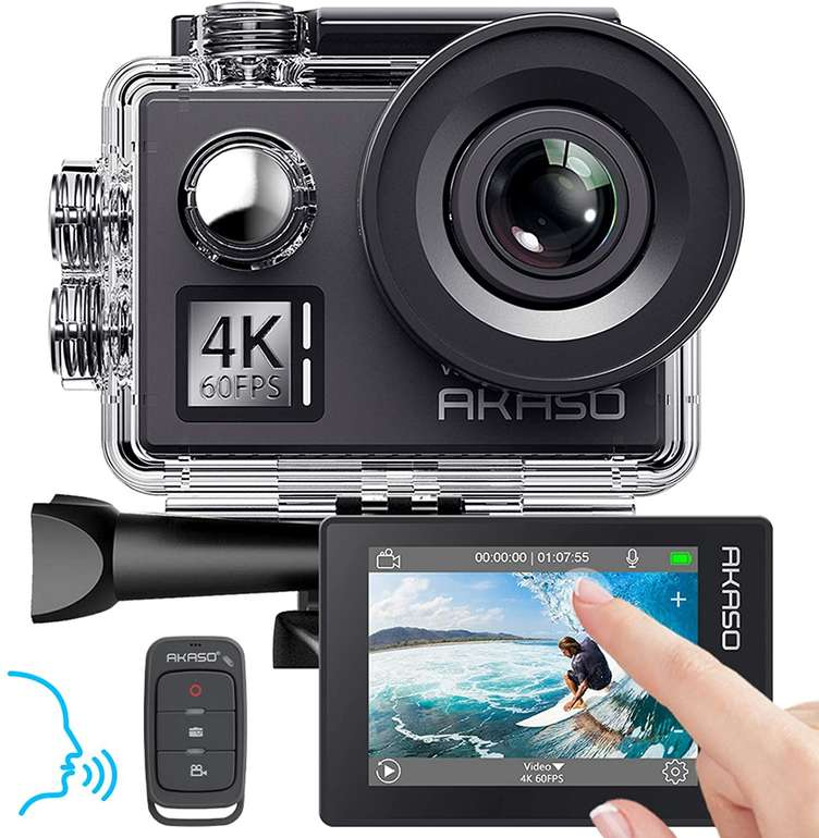 Akaso V50 Elite 4K Action Cam mit Touchscreen für 90,09€ inkl. Versand (Statt 151€)