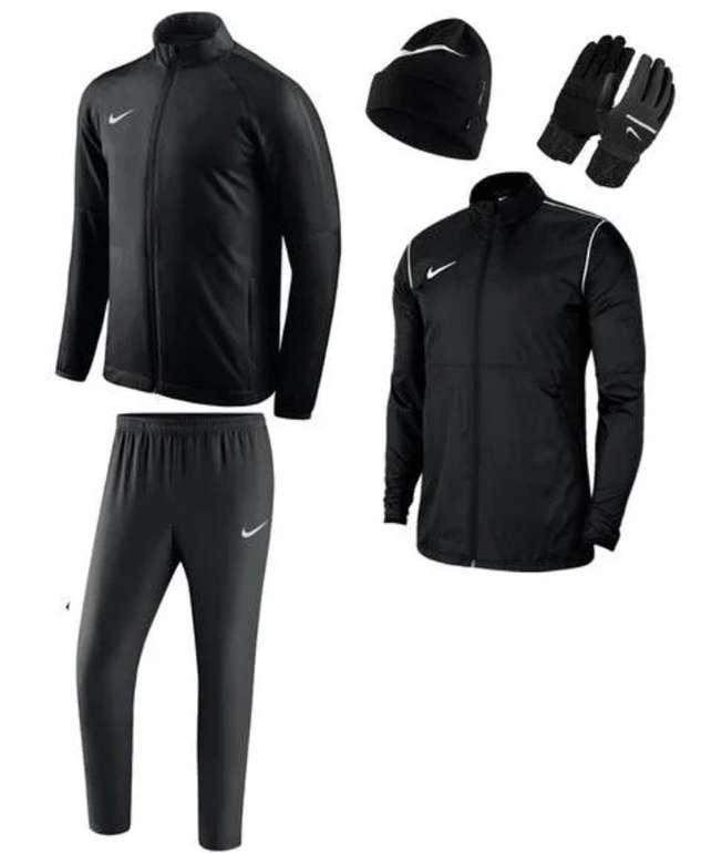 5-tlg. Nike Winterset (Trainingsjacke, Hose, Regenjacke, Mütze, Handschuhe) für 84,95€ inkl. Versand