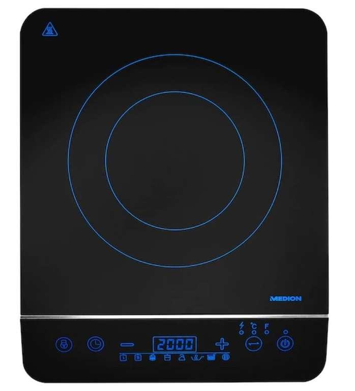 Medion MD 17595 Induktionskochplatte (2000 Watt, 8 Programme, automatische Topferkennung) für 32,94€