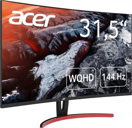 "Acer 31,5"" Curved Gaming Monitor ED323QURA (WQHD, 4ms, 144 Hz) für 328,15€"