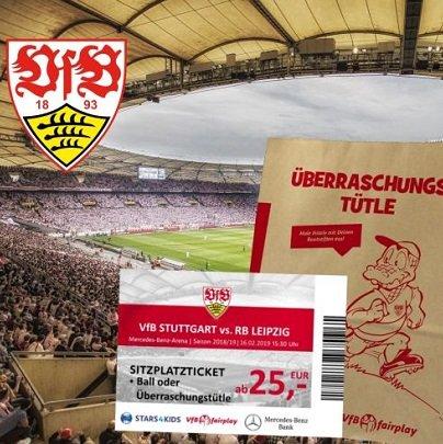 Charity-Ticket-Aktion: VfB Stuttgart – RB Leipzig am 16.02.2019 für 25€