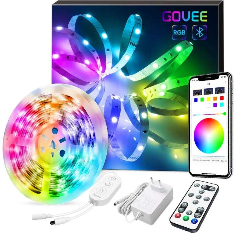 Govee 5m Bluetooth RGB LED Lightstrip mit App-Steuerung für 18,19€ inkl. Versand - Prime!