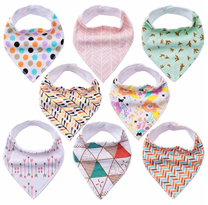 8er Pack Yoofoss Baby Dreieckstücher für 9,79€ inkl. Prime Versand (statt 14€)